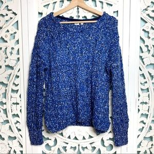 GAP Blue Chunky Knit Pullover Sweater
